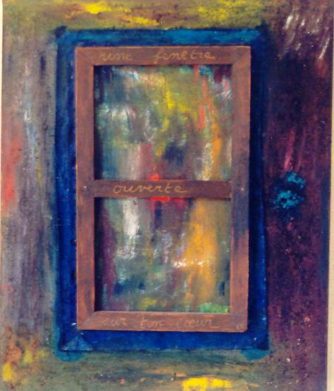 Peintures et photographies for Peinture fenetre bois